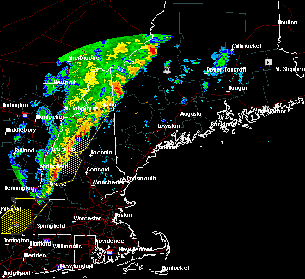 Radar Image for Severe Thunderstorms near Berlin, NH at 9/11/2016 8:45 AM EDT