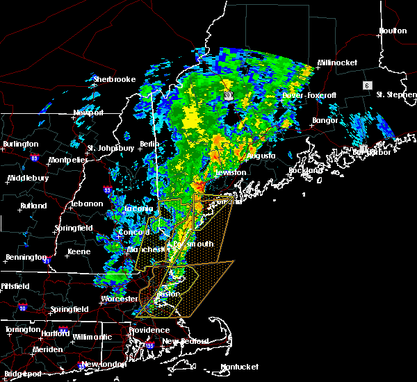 Radar Image for Severe Thunderstorms near South Eliot, ME at 9/11/2016 10:46 AM EDT