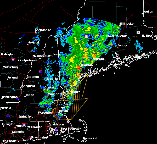 Radar Image for Severe Thunderstorms near Auburn, ME at 9/11/2016 10:55 AM EDT