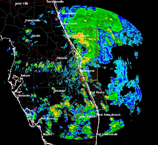 Radar Image for Severe Thunderstorms near Malabar, FL at 9/13/2016 1:54 PM EDT
