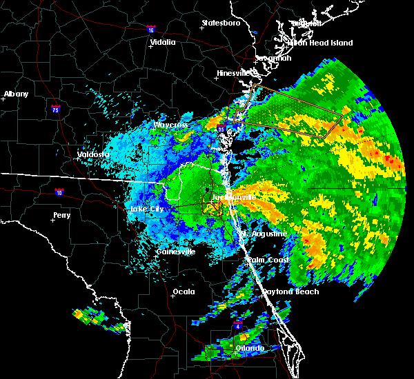 Radar Image for Severe Thunderstorms near Jacksonville, FL at 9/13/2016 9:34 PM EDT