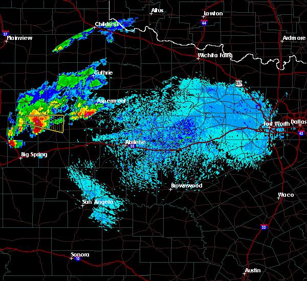 Radar Image for Severe Thunderstorms near Hamlin, TX at 9/16/2016 4:25 PM CDT