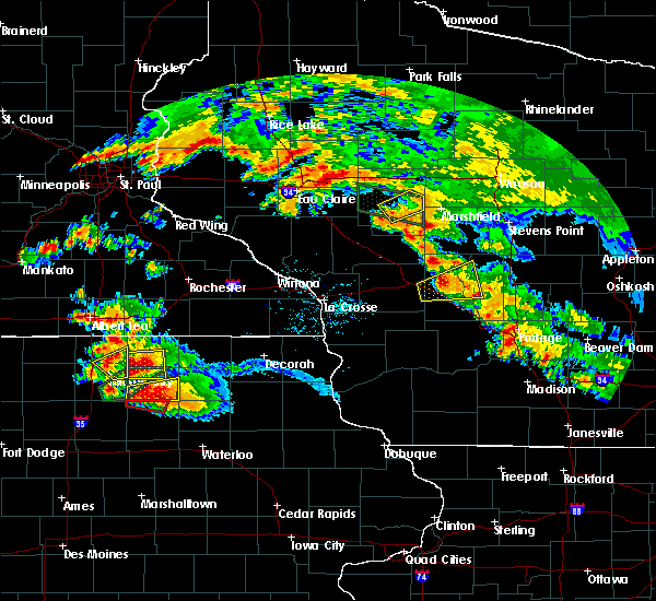 Radar Image for Severe Thunderstorms near Granton, WI at 9/21/2016 6:13 PM CDT
