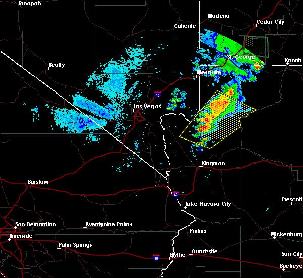 Radar Image for Severe Thunderstorms near Dolan Springs, AZ at 9/22/2016 5:12 PM MST