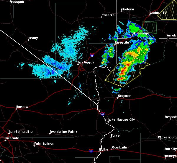 Radar Image for Severe Thunderstorms near Dolan Springs, AZ at 9/22/2016 5:25 PM MST