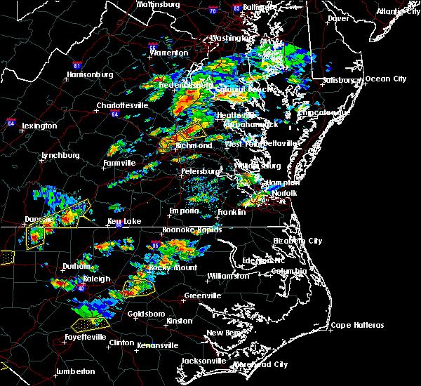 Radar Image for Severe Thunderstorms near Hanover, VA at 9/28/2016 4:38 PM EDT