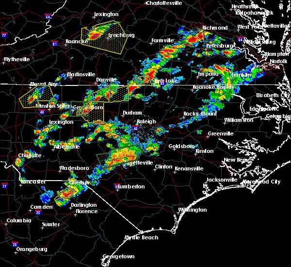 Radar Image for Severe Thunderstorms near Clarksville, VA at 9/28/2016 5:55 PM EDT