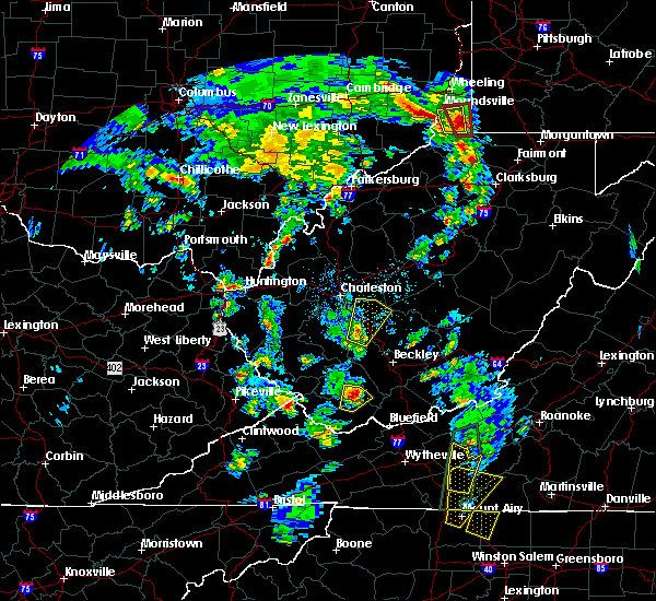 Radar Image for Severe Thunderstorms near East Bank, WV at 9/29/2016 3:02 PM EDT