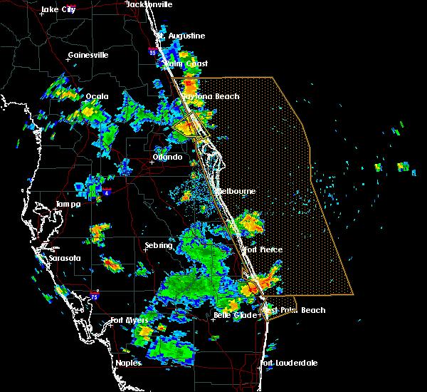 Radar Image for Severe Thunderstorms near Oak Hill, FL at 9/29/2016 3:11 PM EDT