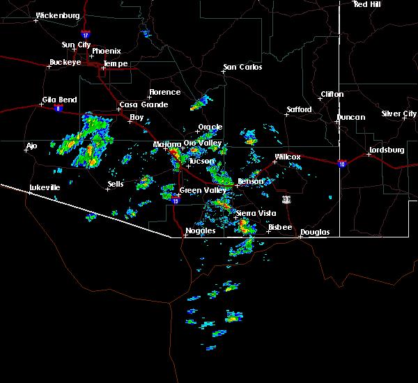 Radar Image for Severe Thunderstorms near Sierra Vista Southeast, AZ at 9/30/2016 2:15 PM MST