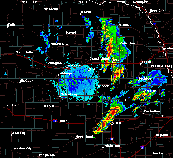 Radar Image for Severe Thunderstorms near Friend, NE at 10/4/2016 5:25 PM CDT