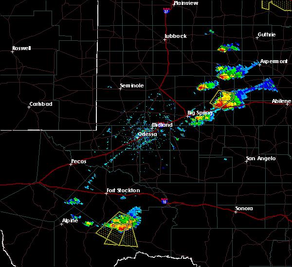 Radar Image for Severe Thunderstorms near Sanderson, TX at 10/6/2016 6:13 PM CDT