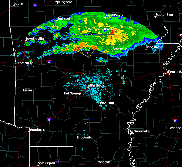 Radar Image for Severe Thunderstorms near Marshall, AR at 10/12/2016 7:06 PM CDT