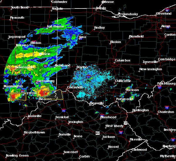 Radar Image for Severe Thunderstorms near Cincinnati, OH at 10/19/2016 6:10 PM EDT
