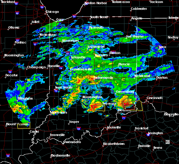 Radar Image for Severe Thunderstorms near Versailles, IN at 10/19/2016 6:17 PM EDT