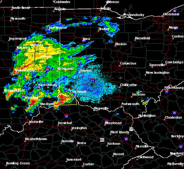Radar Image for Severe Thunderstorms near Cincinnati, OH at 10/19/2016 7:02 PM EDT