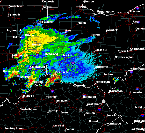 Radar Image for Severe Thunderstorms near Cincinnati, OH at 10/19/2016 7:24 PM EDT
