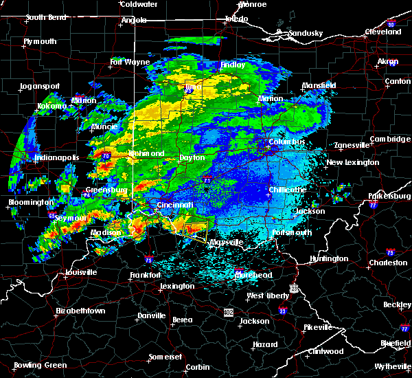 Radar Image for Severe Thunderstorms near Augusta, OH at 10/19/2016 8:34 PM EDT