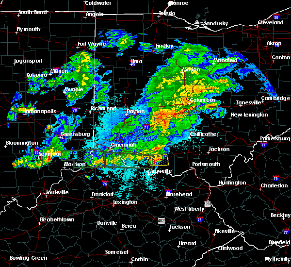 Radar Image for Severe Thunderstorms near Winchester, OH at 10/19/2016 10:32 PM EDT