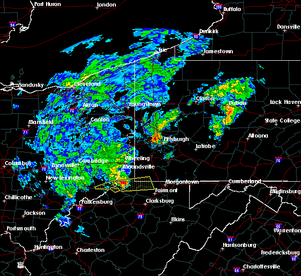 Radar Image for Severe Thunderstorms near Sardis, OH at 10/20/2016 4:57 PM EDT