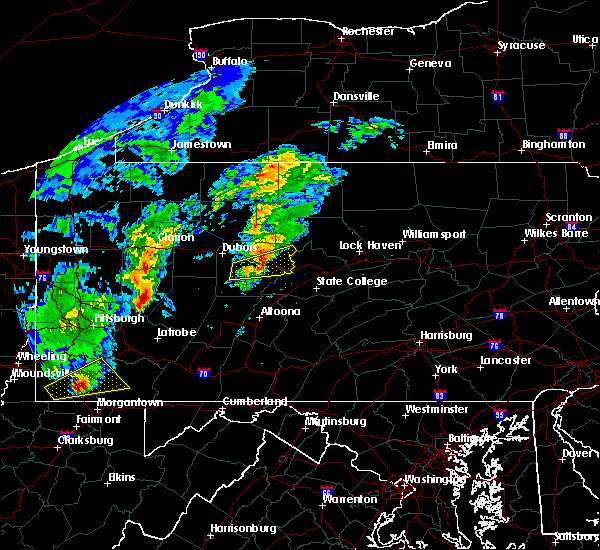 Radar Image for Severe Thunderstorms near Grassflat, PA at 10/20/2016 5:48 PM EDT