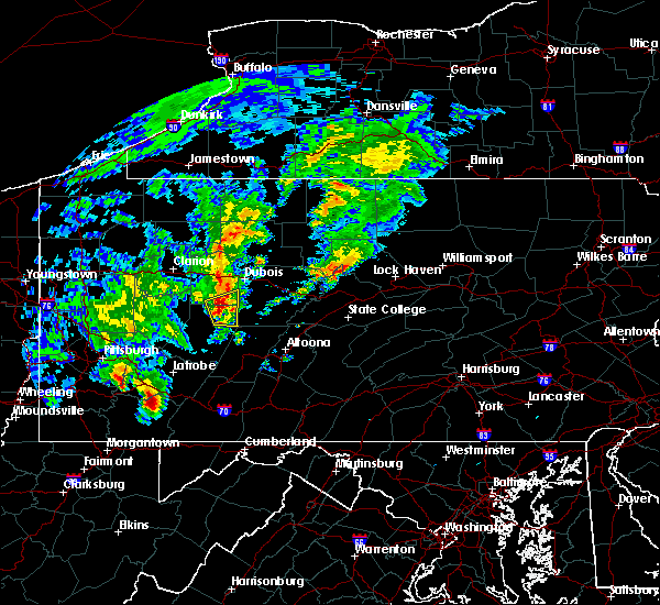 Radar Image for Severe Thunderstorms near Rossiter, PA at 10/20/2016 6:40 PM EDT