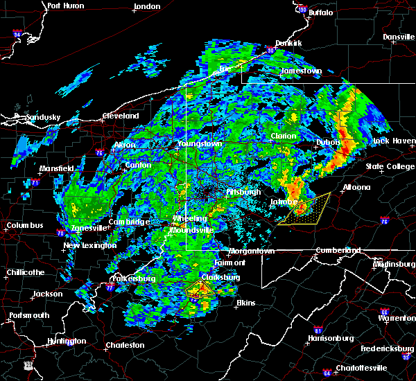 Radar Image for Severe Thunderstorms near Philippi, WV at 10/20/2016 7:31 PM EDT
