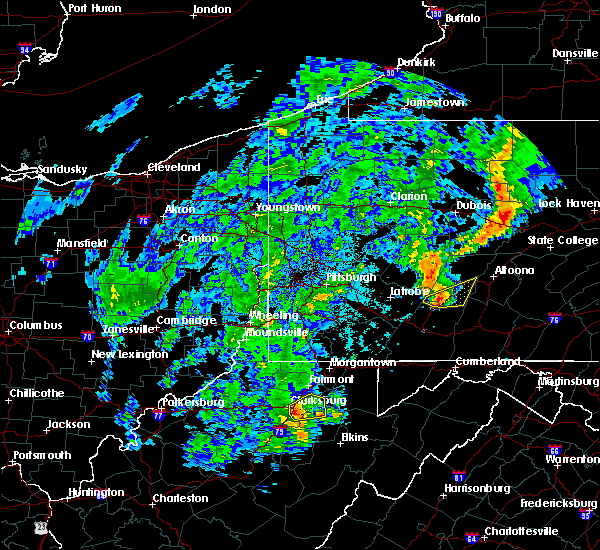 Radar Image for Severe Thunderstorms near Philippi, WV at 10/20/2016 7:38 PM EDT