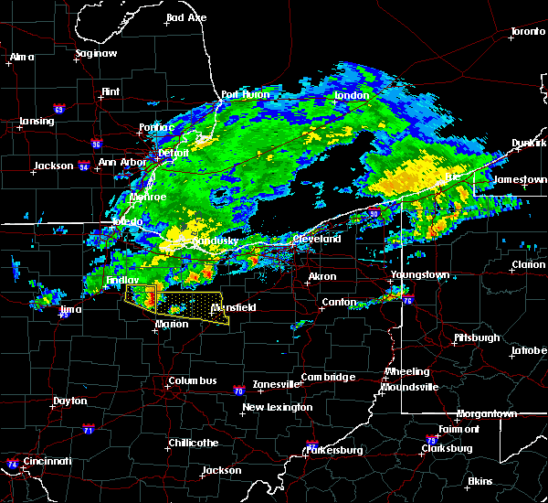 Radar Image for Severe Thunderstorms near Lucas, OH at 10/30/2016 10:17 AM EDT