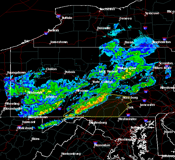 Radar Image for Severe Thunderstorms near Orrstown, PA at 10/30/2016 3:33 PM EDT