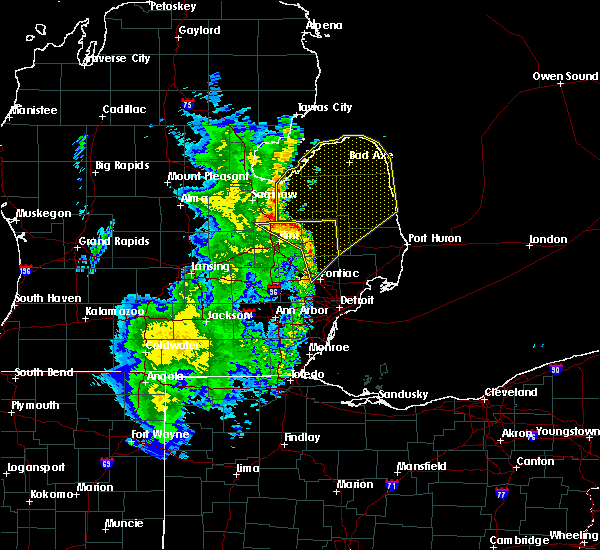 Interactive Hail Maps Hail Map For Almont Mi