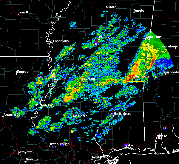Radar Image for Severe Thunderstorms near Lauderdale, MS at 11/28/2016 6:34 PM CST