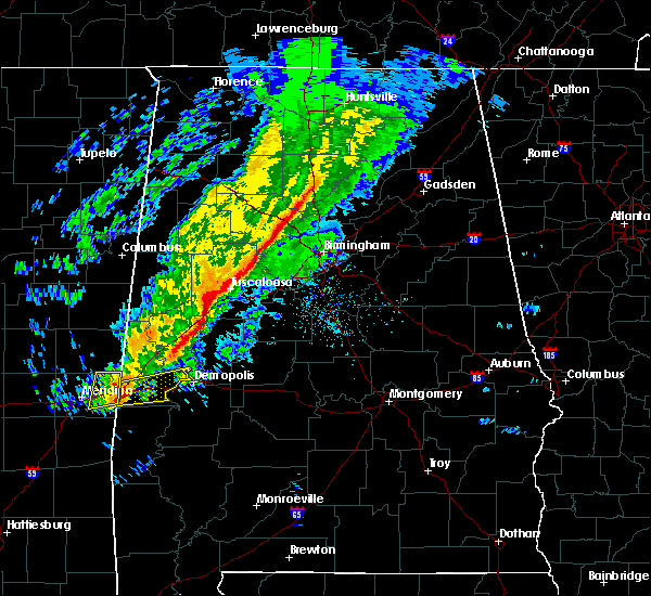 Radar Image for Severe Thunderstorms near Bellamy, AL at 11/28/2016 7:05 PM CST