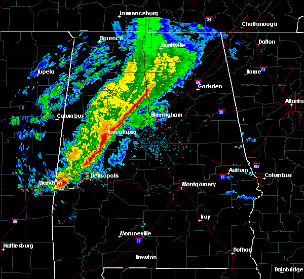 Radar Image for Severe Thunderstorms near Bellamy, AL at 11/28/2016 7:20 PM CST