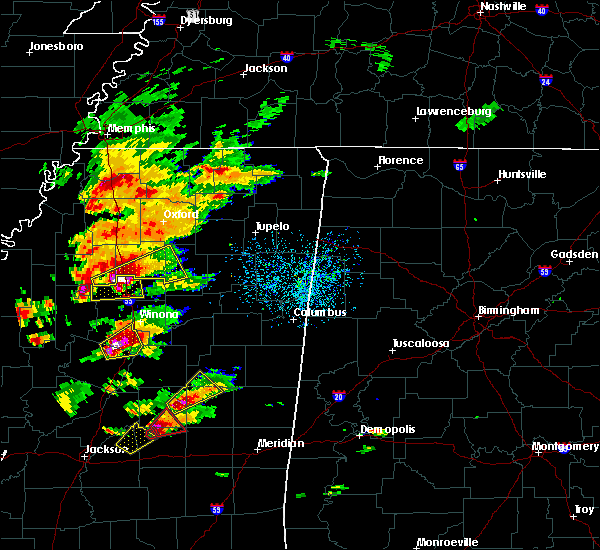 Radar Image for Severe Thunderstorms near Grenada, MS at 11/29/2016 4:25 PM CST