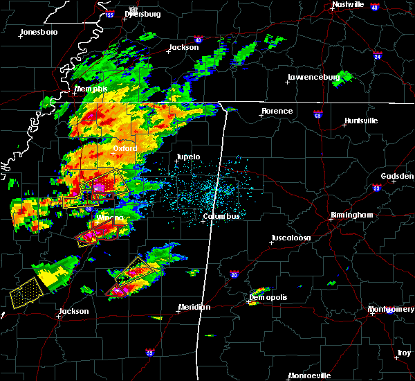 Radar Image for Severe Thunderstorms near Grenada, MS at 11/29/2016 4:38 PM CST