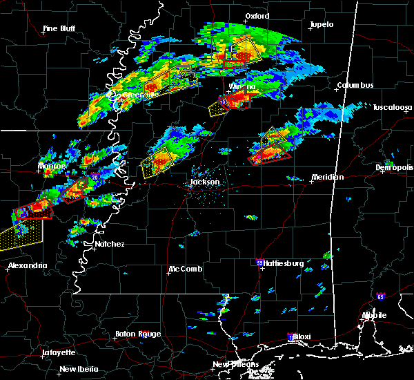Radar Image for Severe Thunderstorms near Schlater, MS at 11/29/2016 4:47 PM CST