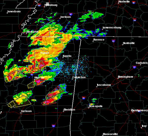 Radar Image for Severe Thunderstorms near Grenada, MS at 11/29/2016 4:57 PM CST