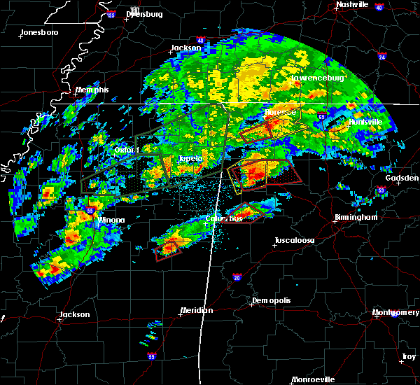 Radar Image for Severe Thunderstorms near Fayette, AL at 11/29/2016 7:38 PM CST