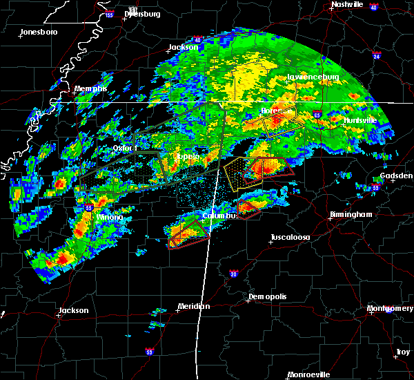 Radar Image for Severe Thunderstorms near Fayette, AL at 11/29/2016 7:48 PM CST