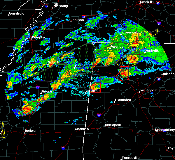 Radar Image for Severe Thunderstorms near Vernon, AL at 11/29/2016 8:48 PM CST