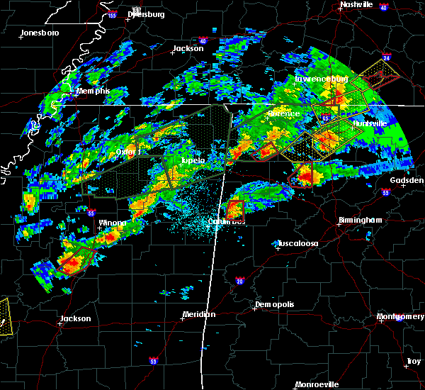 Radar Image for Severe Thunderstorms near Vernon, AL at 11/29/2016 8:57 PM CST