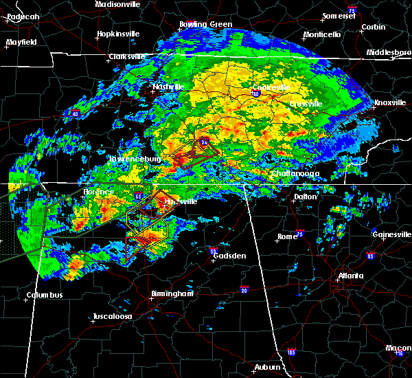 Radar Image for Severe Thunderstorms near Somerville, AL at 11/29/2016 9:26 PM CST