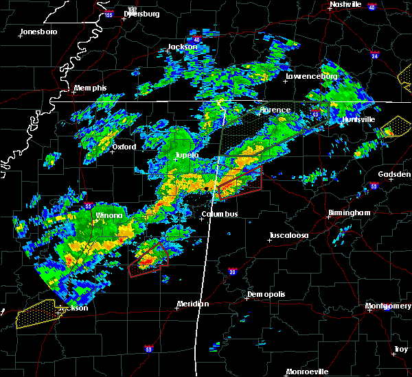 Radar Image for Severe Thunderstorms near Noxapater, MS at 11/29/2016 11:52 PM CST
