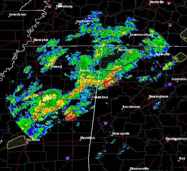 Radar Image for Severe Thunderstorms near Noxapater, MS at 11/29/2016 11:58 PM CST