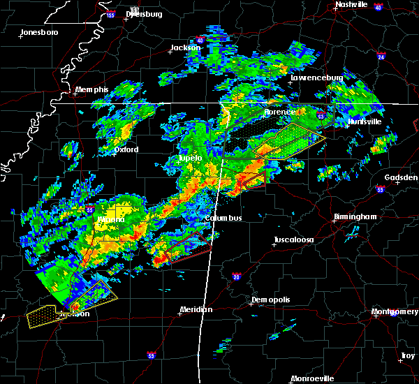 Radar Image for Severe Thunderstorms near Brilliant, AL at 11/30/2016 12:22 AM CST