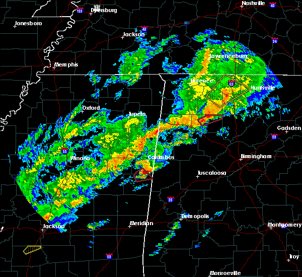 Radar Image for Severe Thunderstorms near Hartselle, AL at 11/30/2016 12:53 AM CST