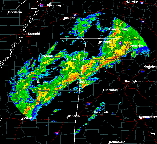 Radar Image for Severe Thunderstorms near Hartselle, AL at 11/30/2016 1:24 AM CST