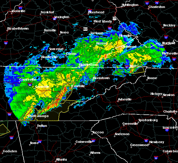 Radar Image for Severe Thunderstorms near Mountain City, TN at 11/30/2016 5:20 AM EST