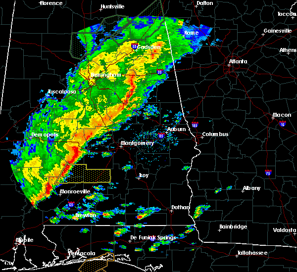 Radar Image for Severe Thunderstorms near Vredenburgh, AL at 11/30/2016 10:34 AM CST
